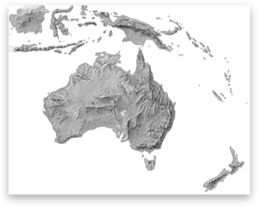 Map Of Australia New Zealand And Papua New Guinea.Shaded Relief Archive Australia New Zealand Papua New Guinea