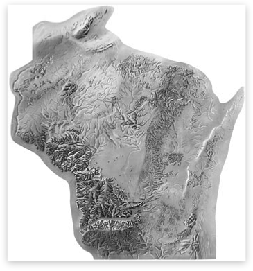 Shaded Relief Archive Wisconsin